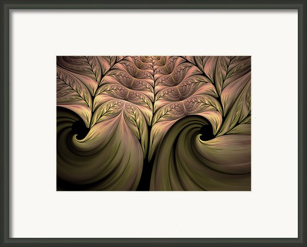 The Secret World Of Plants Abstract Framed Print By Zeana Romanovna