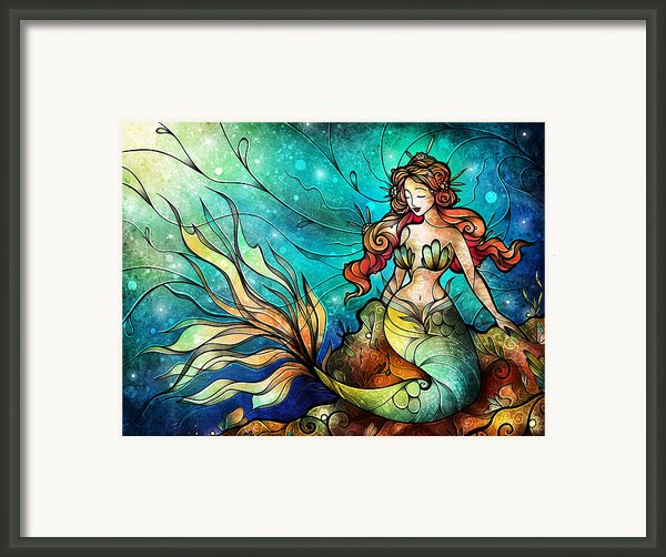 The Serene Siren Framed Print By Mandie Manzano