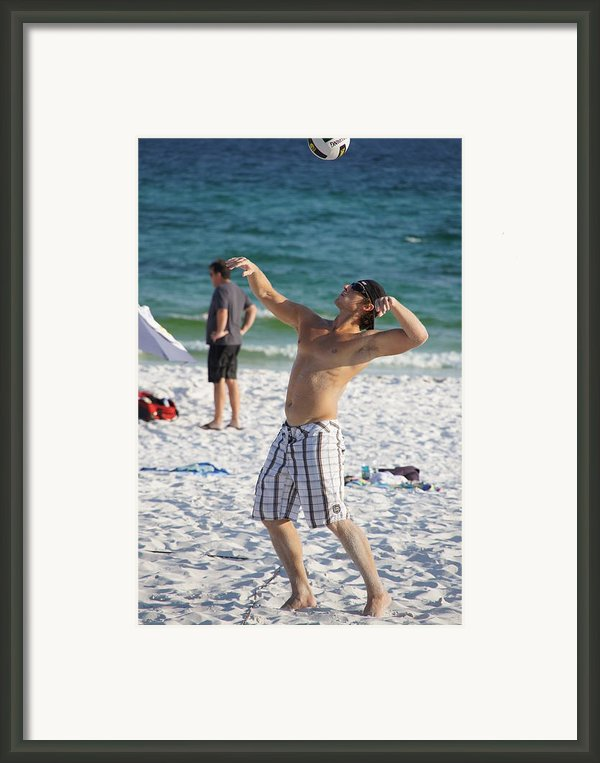 The Serve Framed Print By Jd Harvill