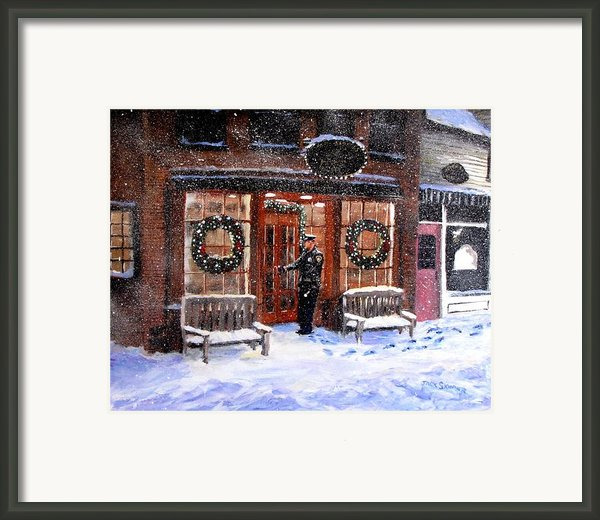 The Shiver And Shake Watch On Christmas Eve Framed Print By Jack Skinner