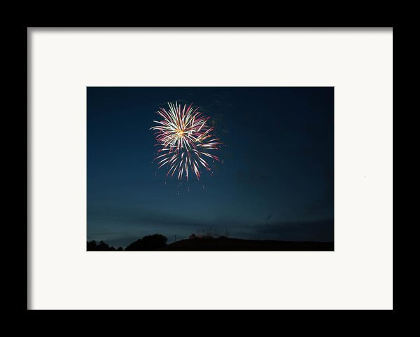 West Virginia Day Fireworks Show Begins Framed Print By Howard Tenke