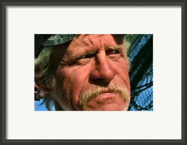 The Shrimper Framed Print By Julie Dant