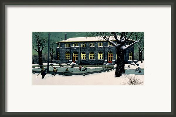 The Skaters Framed Print By Stephane Poulin