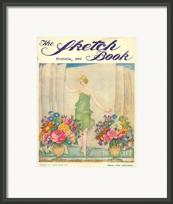 The Sketch Book 1925 1920s Uk Womens Framed Print By The Advertising Archives