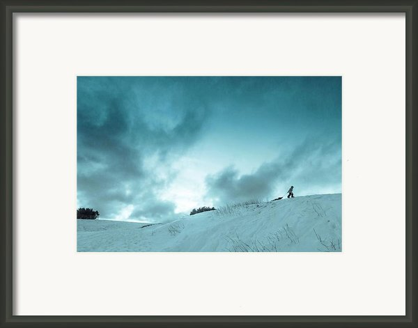 The Sledding Hill Framed Print By Mary Amerman