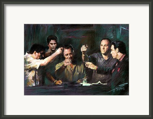 The Sopranos Framed Print By Viola El