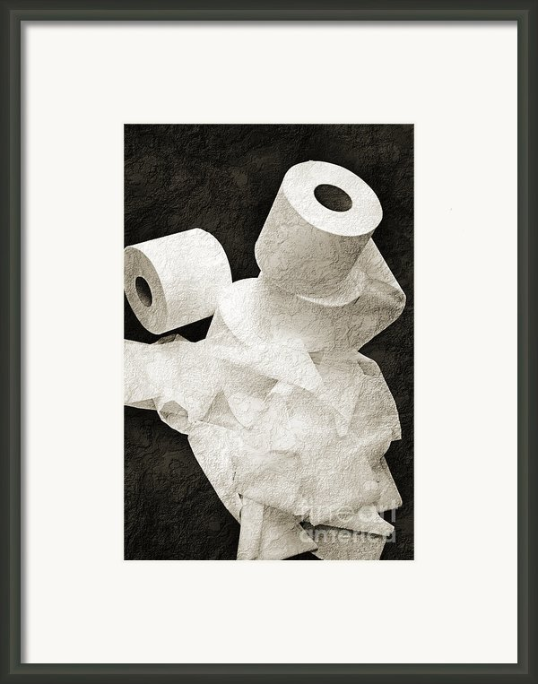The Spare Rolls 1 - Toilet Paper - Bathroom Design - Restroom - Powder Room Framed Print By Andee Photography