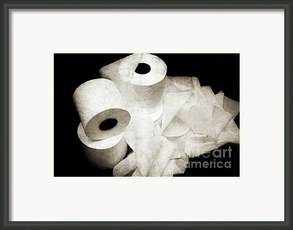 The Spare Rolls 2 - Toilet Paper - Bathroom Design - Restroom - Powder Room Framed Print By Andee Design