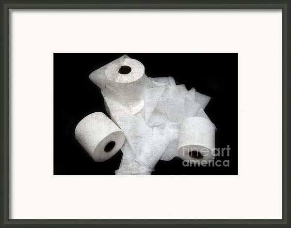 The Spare Rolls 3 - Toilet Paper - Bathroom Design - Restroom - Powder Room Framed Print By Andee Photography
