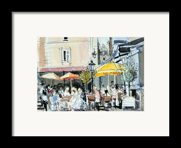 The Square At St. Malo Framed Print By Felicity House