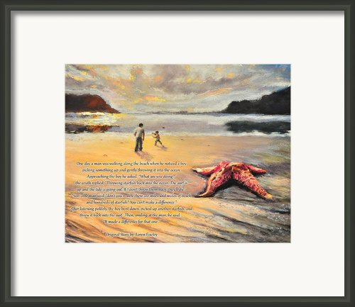 The Starfish Framed Print By Susan Jenkins
