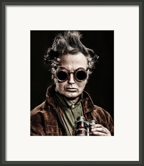 The Steampunk - Sci-fi Framed Print By Gary Heller