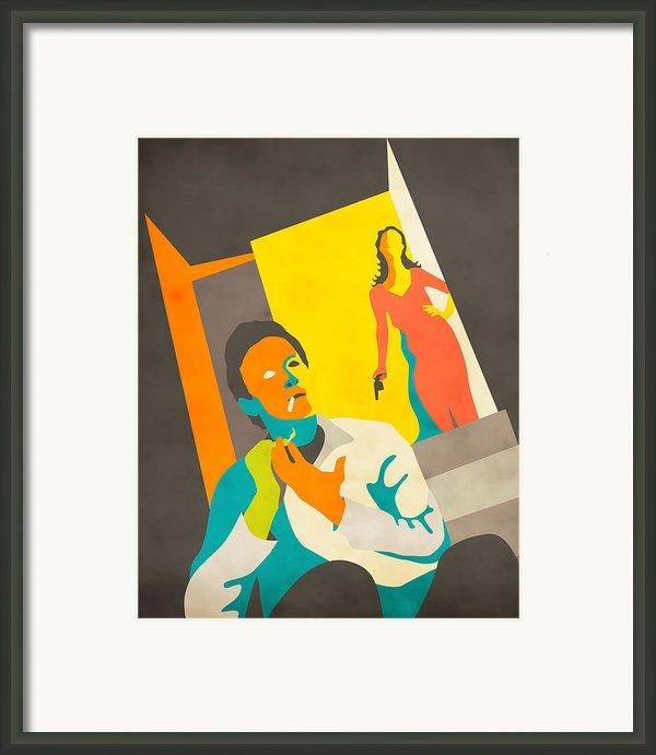 The Stranger On The Third Floor Framed Print By Jazzberry Blue