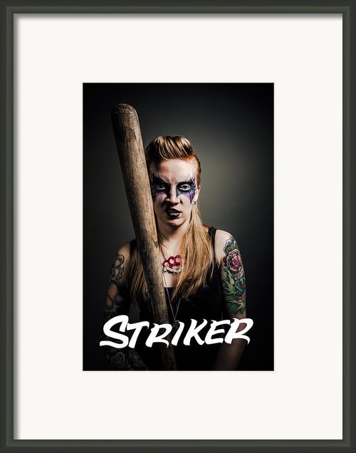 The Striker Of Team Violence Framed Print By Kyle James-patrick