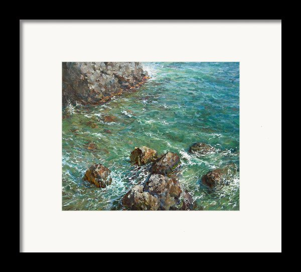 The Surf Framed Print By Korobkin Anatoly