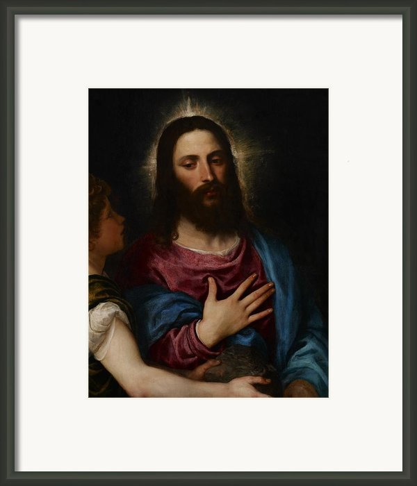 The Temptation Of Christ Framed Print By Titian