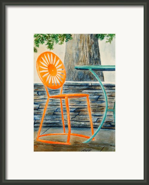 The Terrace Chair Framed Print By Thomas Kuchenbecker