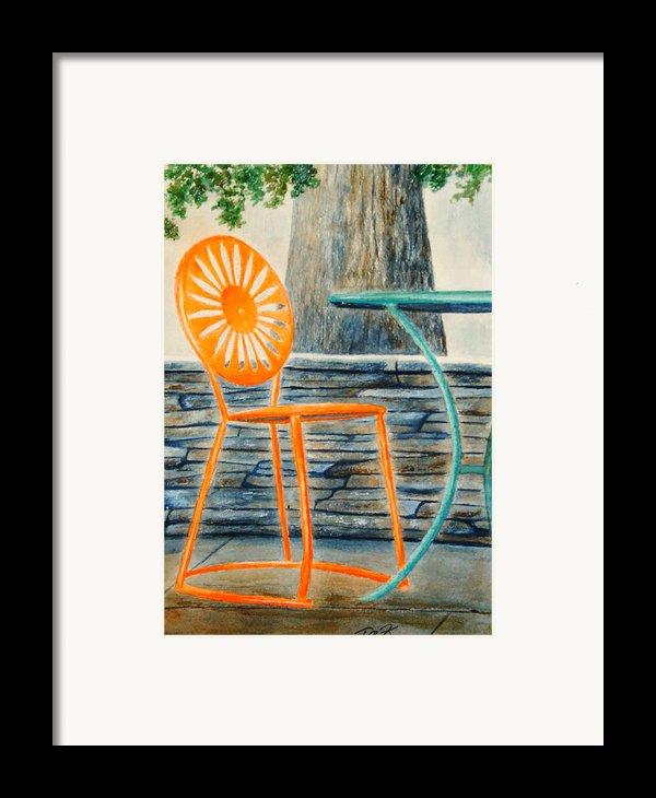 The Terrace Chair Framed Print By Thomas Kuchenbecker