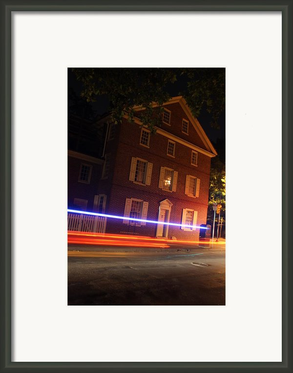 The Todd House Philadelphia Framed Print By Christopher Woods