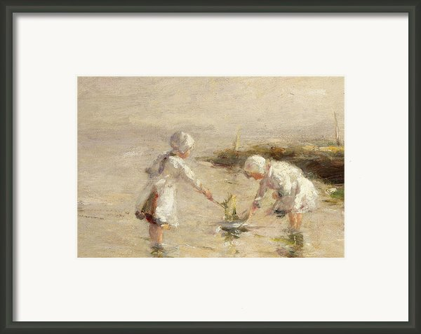 The Toy Boat Framed Print By Robert Gemmel Hutchison