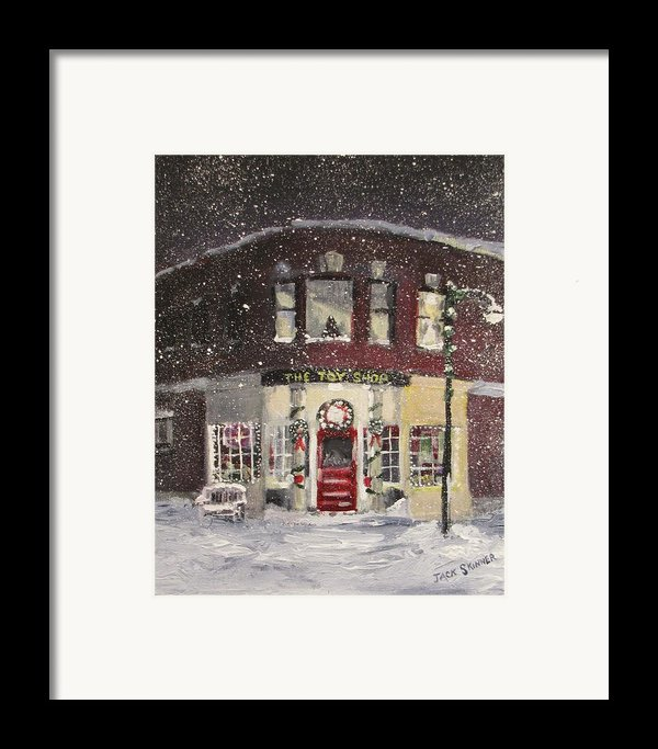 The Toy Shop Framed Print By Jack Skinner