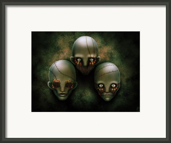 The Triad Framed Print By Tony Christou
