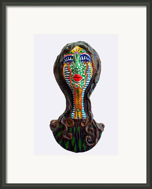 The Tribal Shaman Framed Print By Agnieszka Parys-kozak