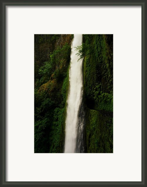 The Tunnel Behind Tunnels Falls Framed Print By Jeff  Swan