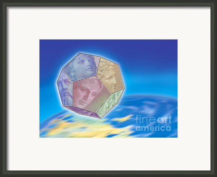 The Twelve Olympic Gods And Dodekahedron  Framed Print By Nikos Smyrnios