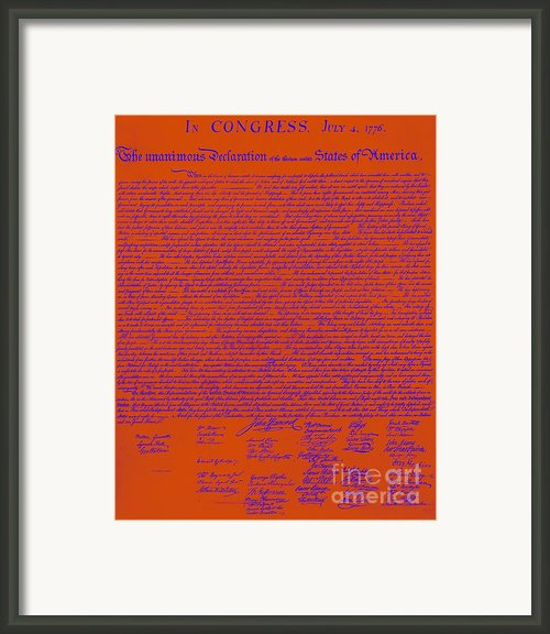 The United States Declaration Of Independence 20130215m108 Framed Print By Wingsdomain Art And Photography