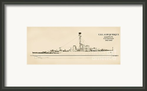 The U.s.s. Albuquerque Framed Print By Jerry Mcelroy
