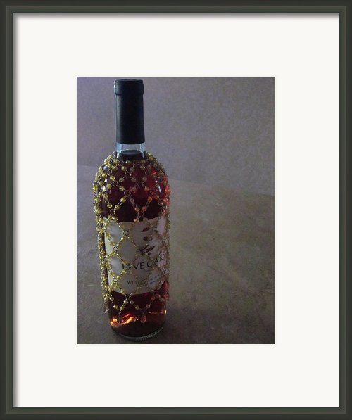 The Warm Glow Of A Chilled Wine Framed Print By Guy Ricketts