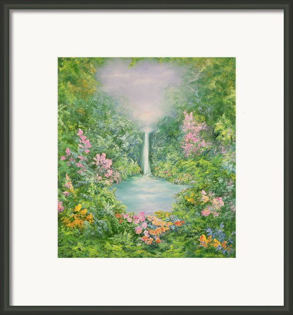 The Waterfall Framed Print By Hannibal Mane