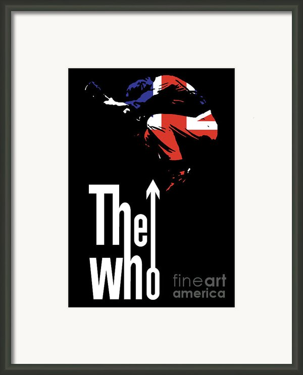 The Who No.01 Framed Print By Caio Caldas