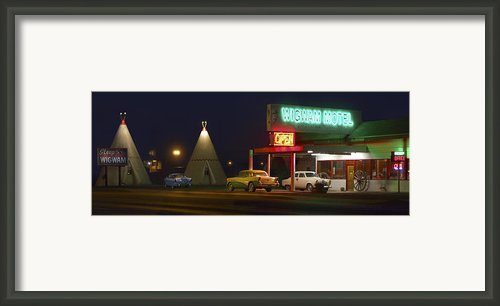 The Wigwam Motel On Route 66 Framed Print By Mike Mcglothlen