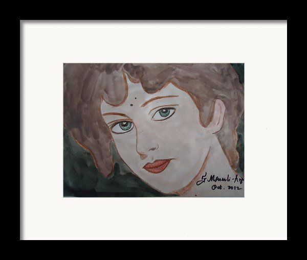 The Woman From The Market... Framed Print By Fladelita Messerli-
