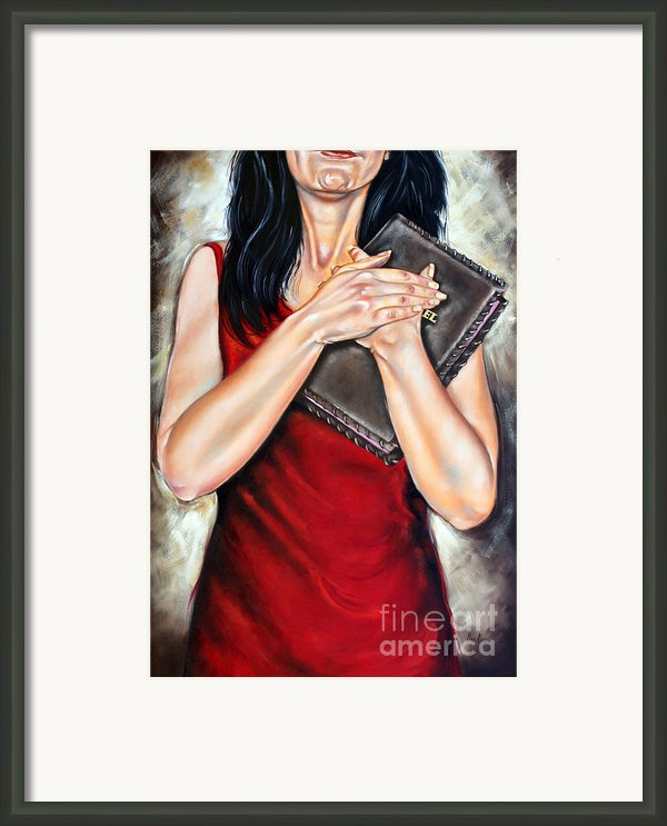 The Word Framed Print By Ilse Kleyn