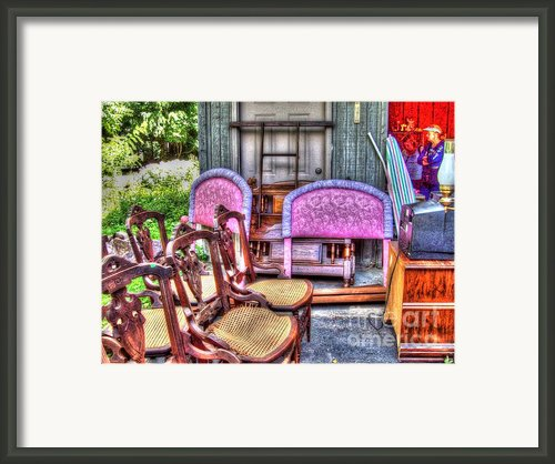 The Yard Sale Framed Print By Mj Olsen