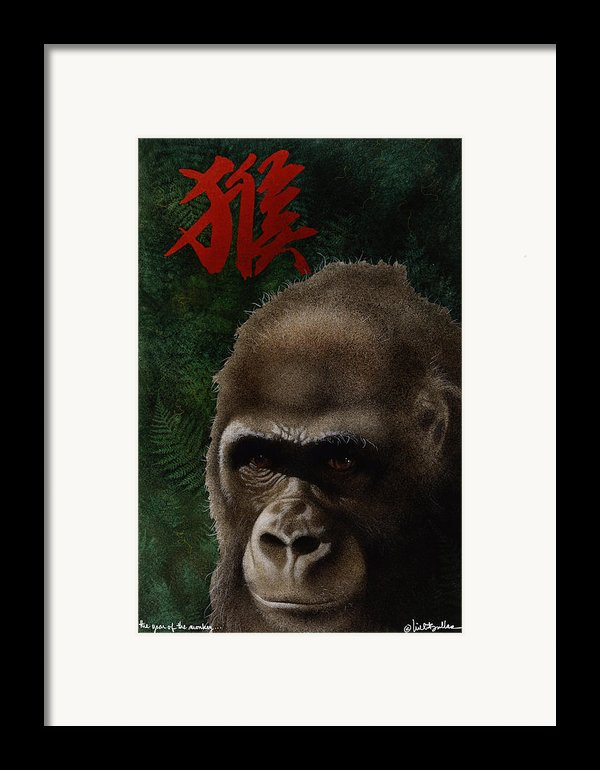 The Year Of The Monkey... Framed Print By Will Bullas
