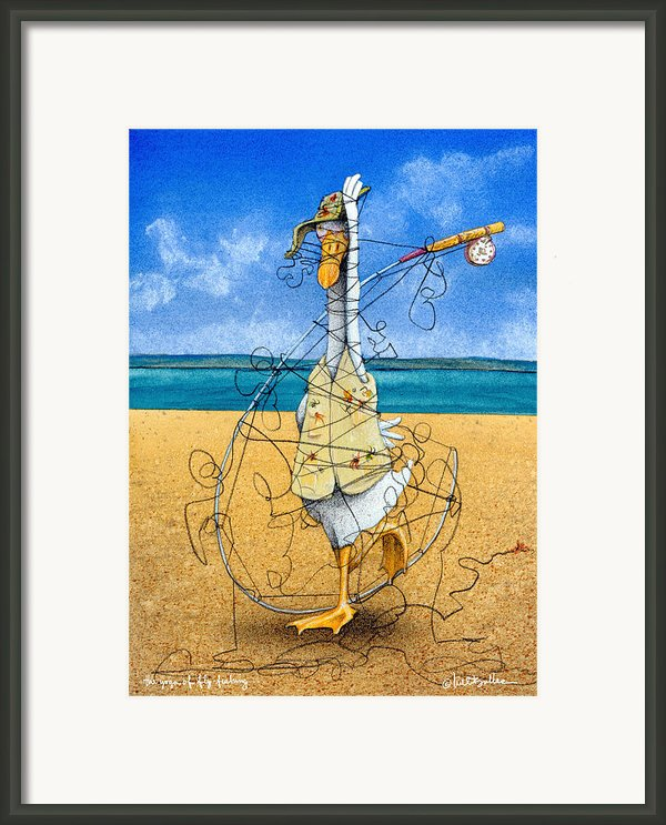 The Yoga Of Fly Fishing... Framed Print By Will Bullas