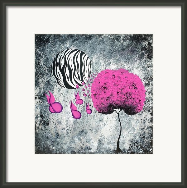 The Zebra Effect 1 Framed Print By Oddball Art Co By Lizzy Love