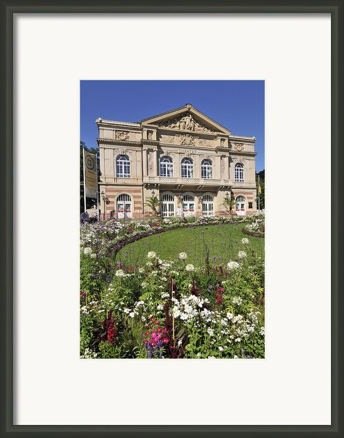 Theater Building Baden-baden Germany Framed Print By Matthias Hauser