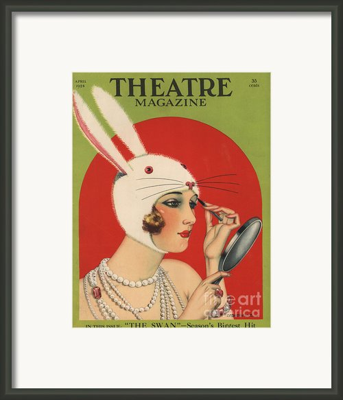 Theatre Magazine 1924 1920s Usa Framed Print By The Advertising Archives