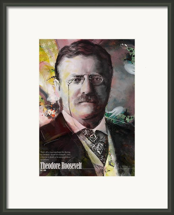 Theodore Roosevelt Framed Print By Corporate Art Task Force