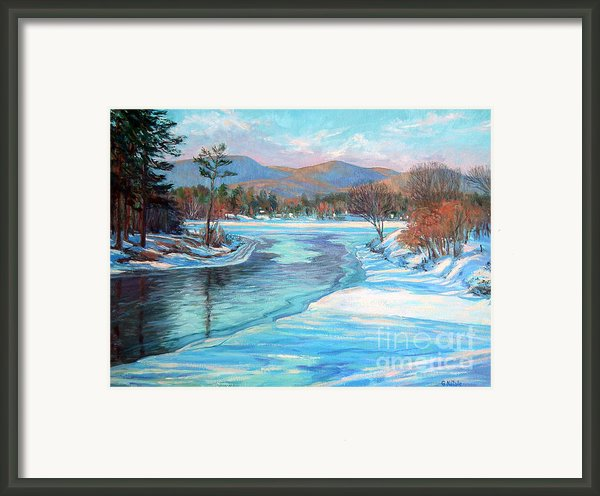 Thin Ice At The Boat Ramp Framed Print By Gerard Natale