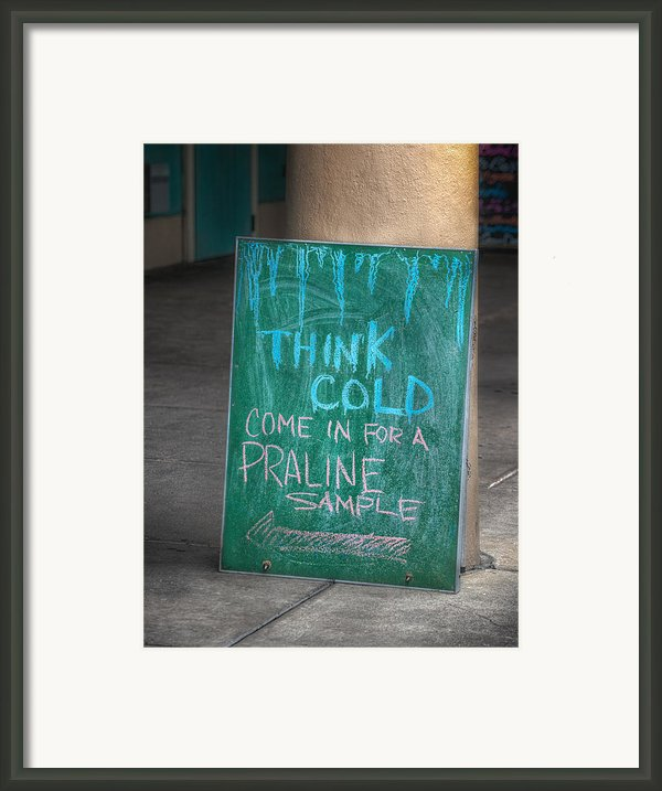 Think Cold Framed Print By Brenda Bryant
