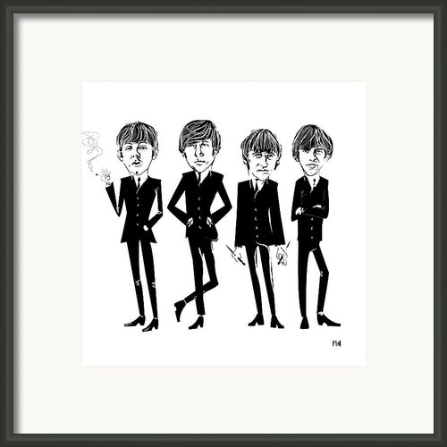 Those Fab Beatles Framed Print By David Finley