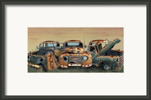 Three Amigos Framed Print By John Wyckoff