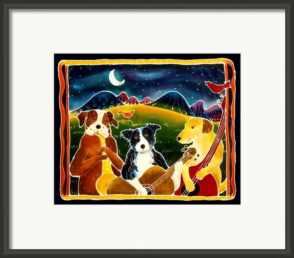 Three Dog Night Framed Print By Harriet Peck Taylor