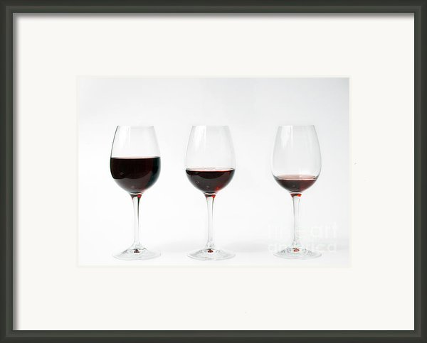 Three Glasses Of Wine  Framed Print By Patricia Hofmeester
